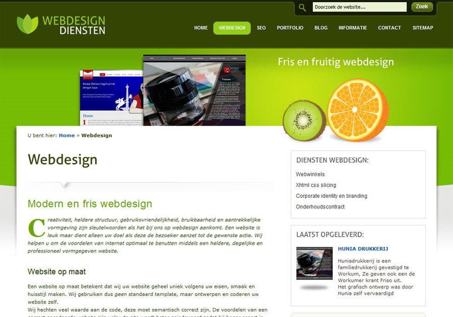 A great web design by webdesigndiensten, Groningen, Netherlands: