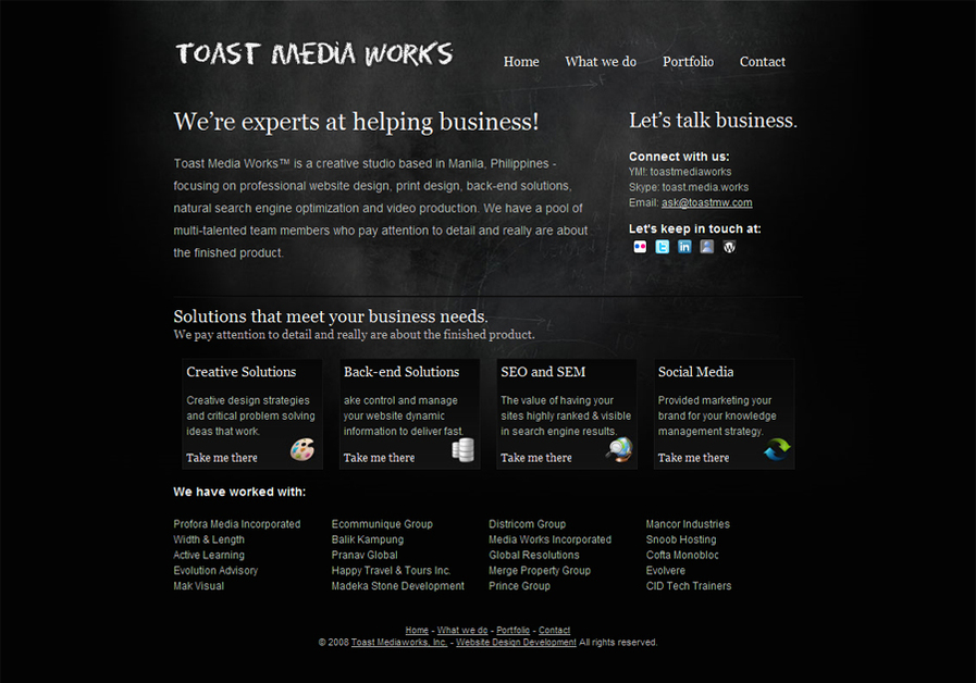 A great web design by Toast Media Works, Manila, Philippines: