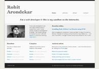 A great web design by Rohit Arondekar, Goa, India: