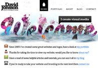 A great web design by David Jonsson, Byron Bay, Australia: