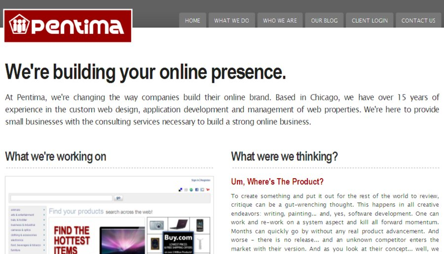 A great web design by Pentima, Chicago, IL: