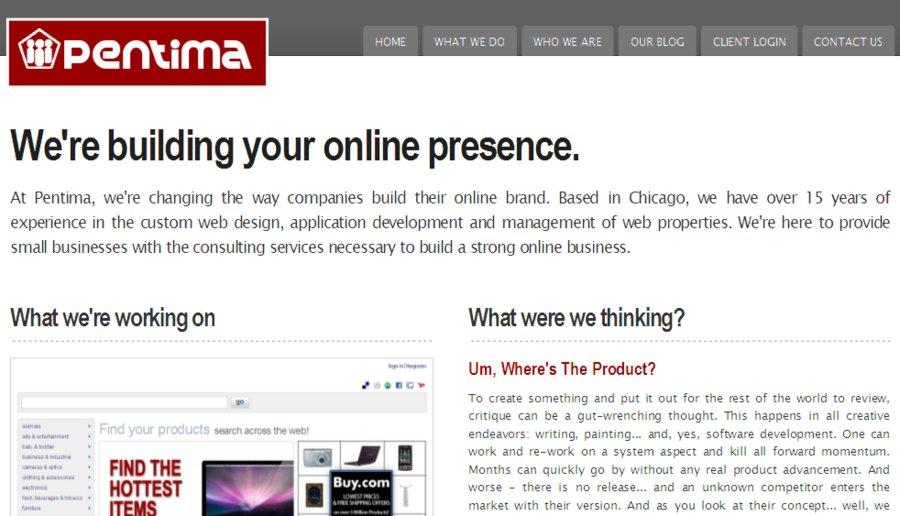 A great web design by Pentima, Chicago, IL: