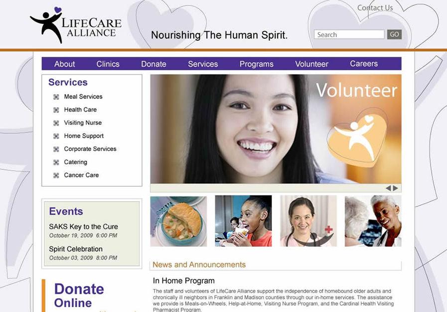 A great web design by BonneCreative, Columbus, OH: