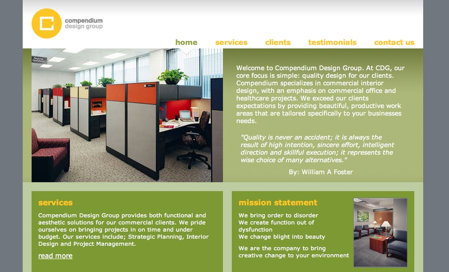 A great web design by Farfromrest web development, Chicago, IL: