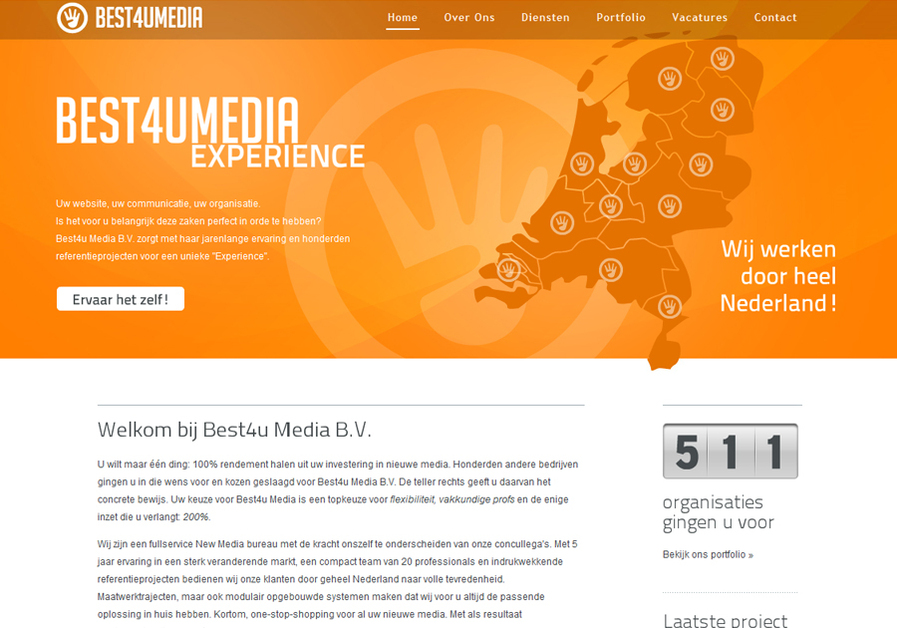 A great web design by Best4u Media BV, Zutphen, Netherlands: