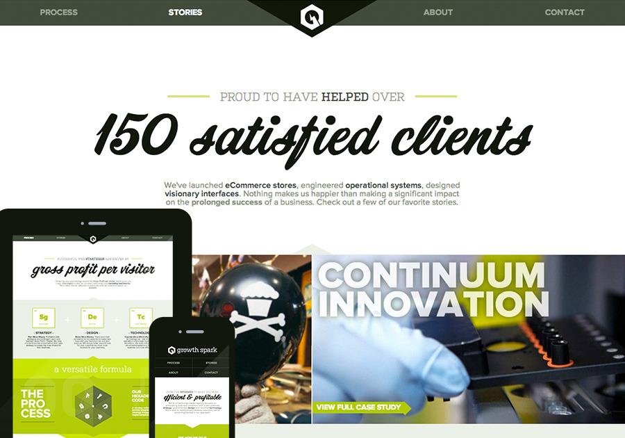 A great web design by GrowthSpark, Boston, MA: Responsive Website, Portfolio , Internet , Wordpress