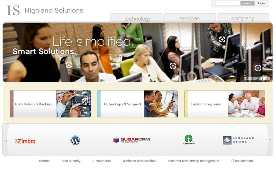 A great web design by Highland Solutions, Chicago, IL: