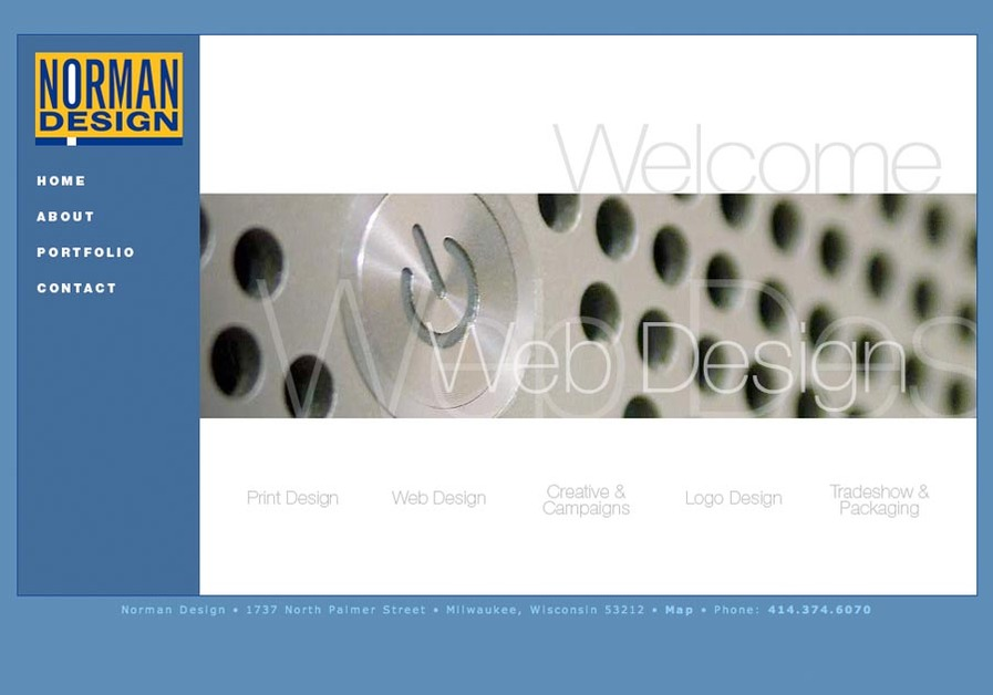 A great web design by Norman Design, Milwaukee, WI: