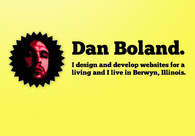 A great web design by Dan Boland, Chicago, IL: