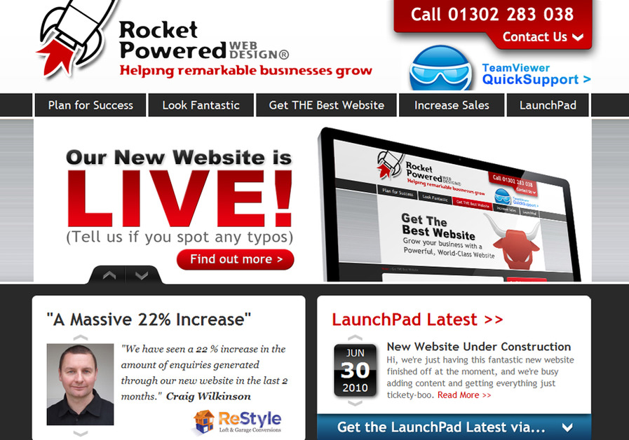 A great web design by ROCKET POWERED, Sheffield, United Kingdom: