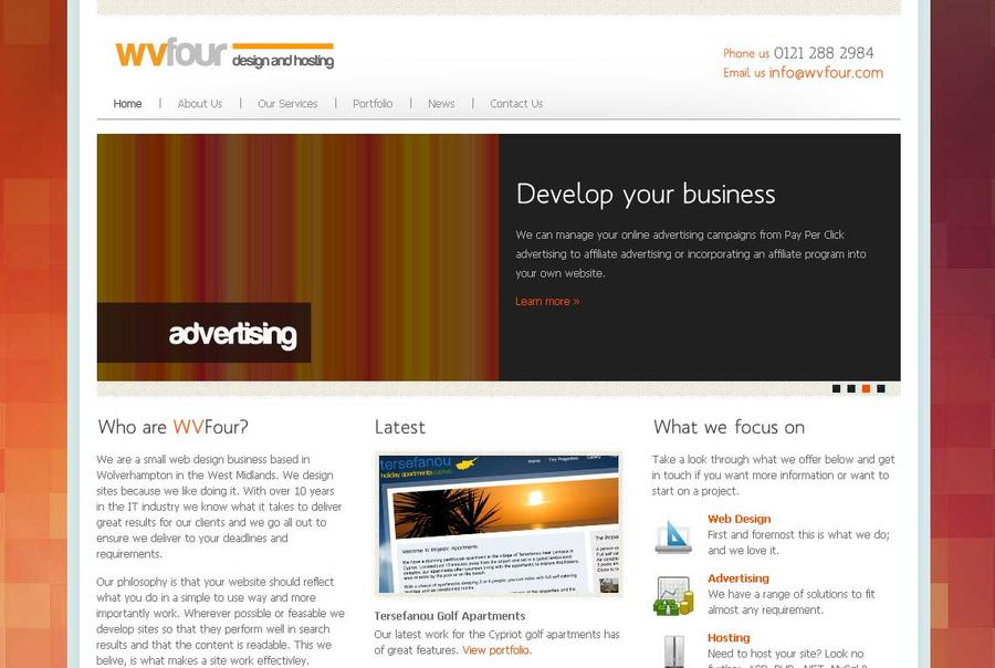 A great web design by WVFour Design and Hosting, Birmingham, United Kingdom: