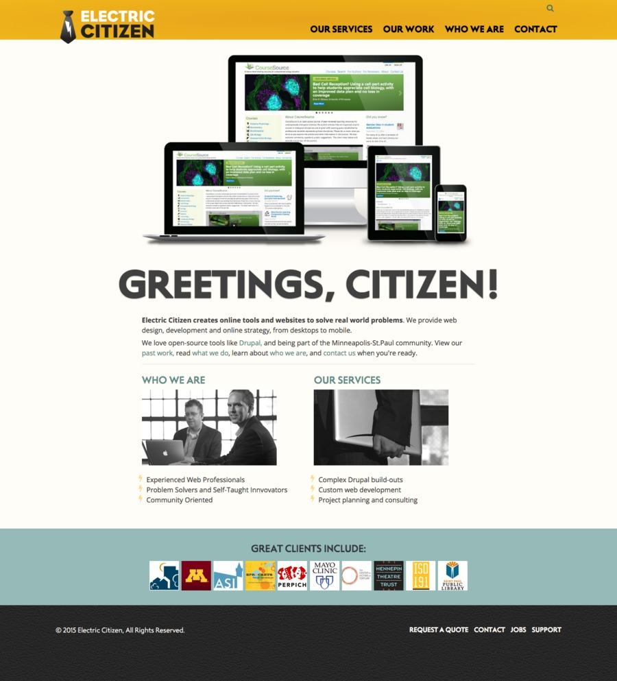 A great web design by Electric Citizen, Minneapolis, MN: Responsive Website, Portfolio , Service , Drupal