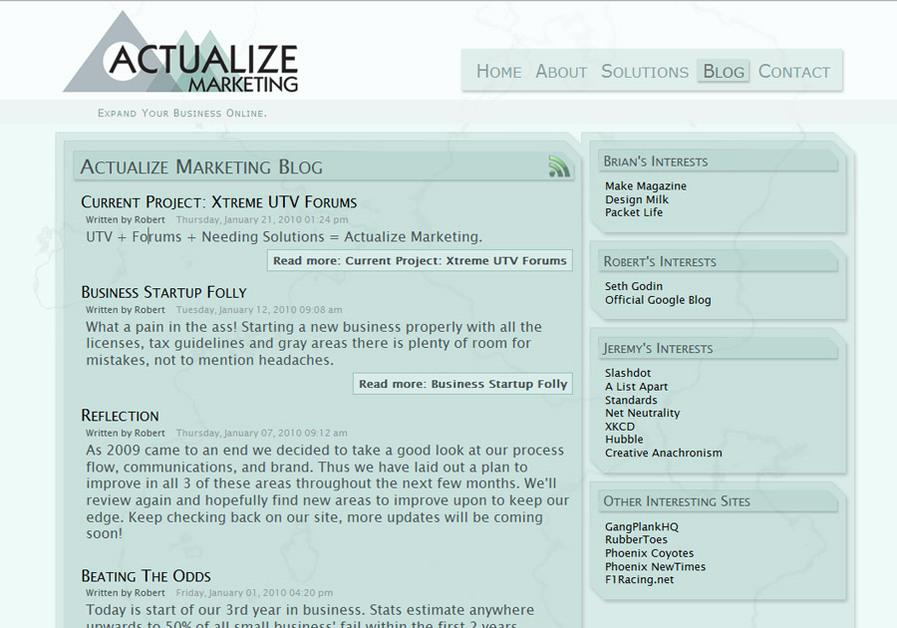 A great web design by Actualize Marketing, Phoenix, AZ: