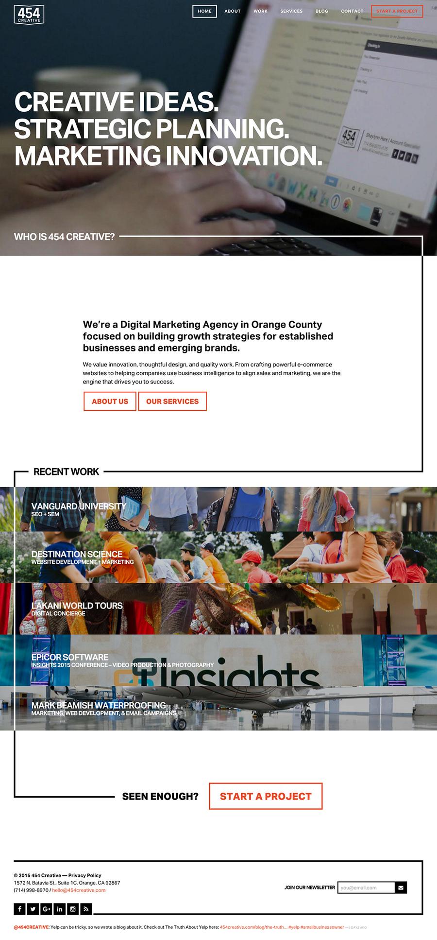 A great web design by 454 Creative, Los Angeles, CA: Responsive Website, Marketing Website , Marketing , ExpressionEngine