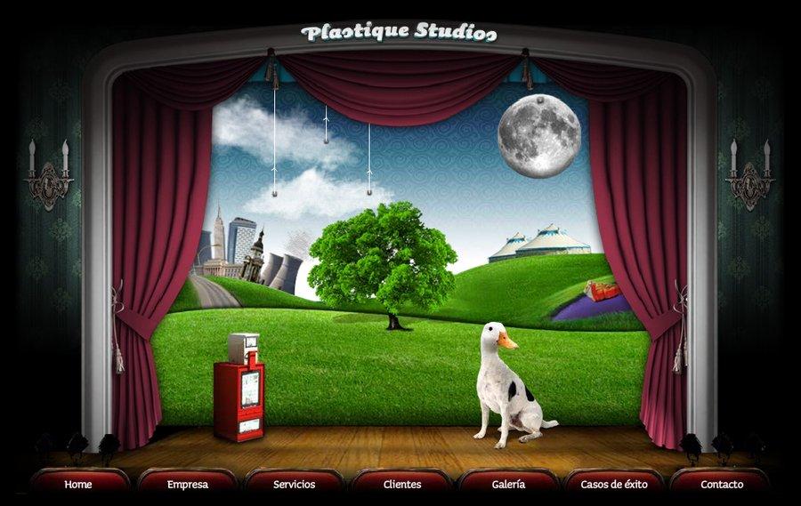 A great web design by Plastique Studios, Mexico City, Mexico: