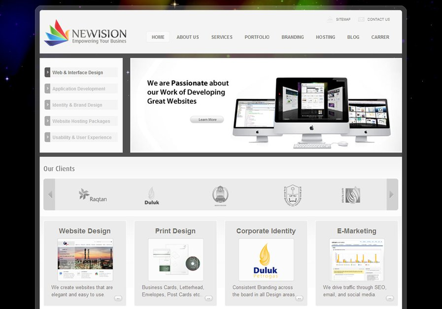 A great web design by NewVision Creative Design Agency, khobar, Saudi Arabia: