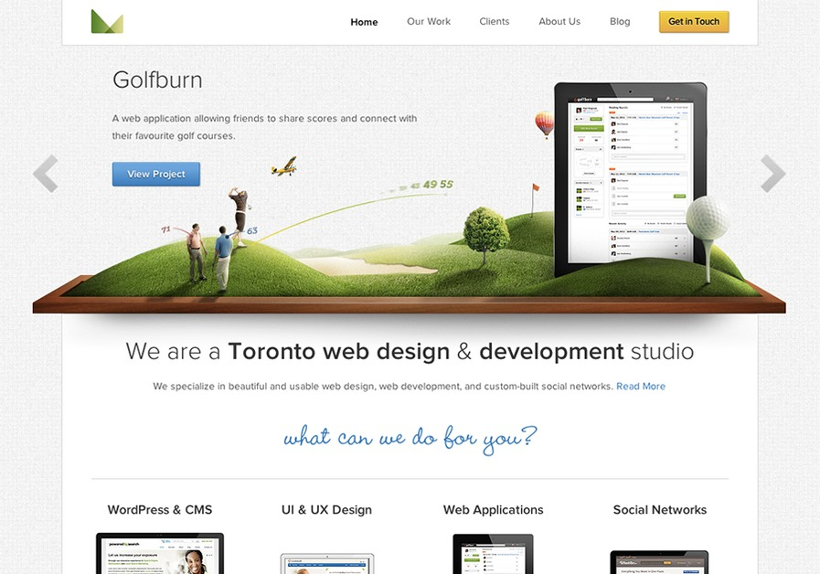 A great web design by 3magine Inc., Toronto, Canada: