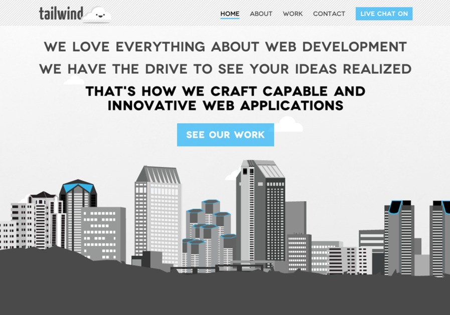 A great web design by Tailwind Web, San Diego, CA: