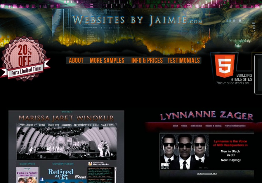 A great web design by Websites by Jaimie, Los Angeles, CA: