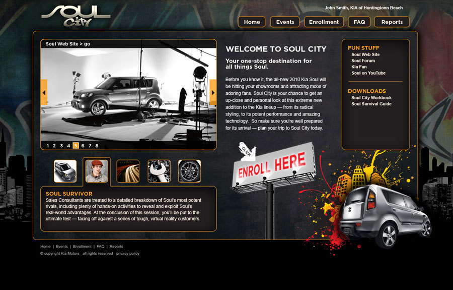 A great web design by Open Eye Design, Los Angeles, CA: