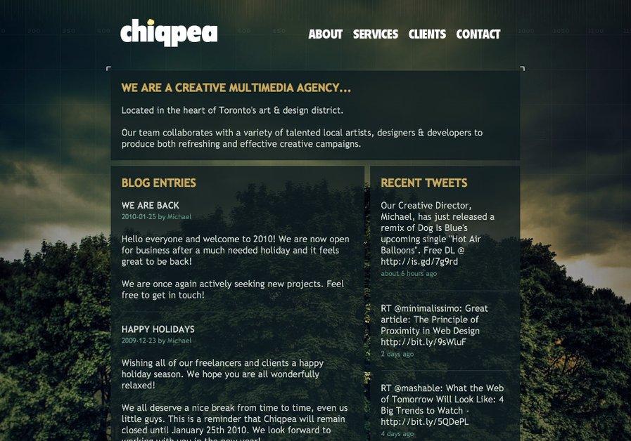 A great web design by Chiqpea Multimedia Inc., Toronto, Canada: