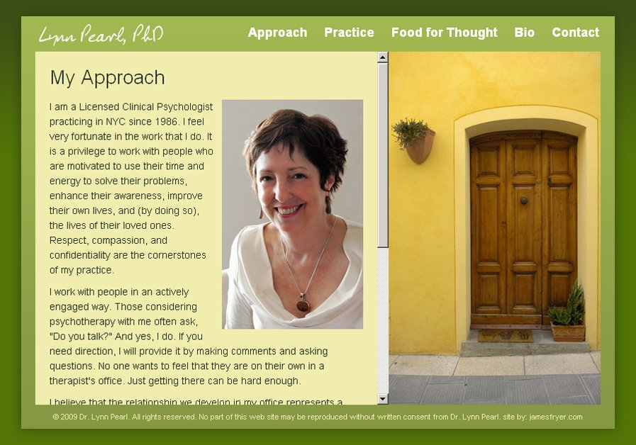 A great web design by James Fryer Design Services, Westchester, NY: