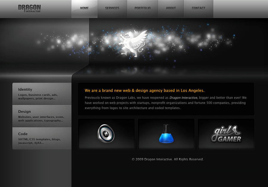 A great web design by Dragon Interactive, Los Angeles, CA: