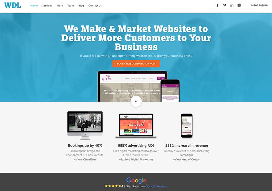 A great web design by WDL, Colchester, United Kingdom: Website, Marketing Website , Marketing , Wordpress
