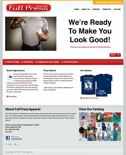 A great web design by Brick Launcher, Tallahassee, FL: