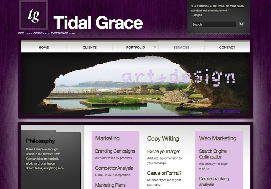 A great web design by TidalGrace.com, Vancouver, Canada: