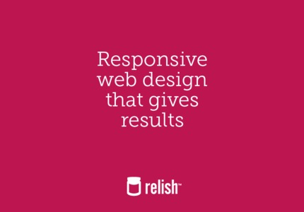A great web design by Relish: