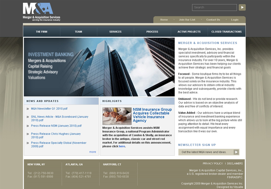 A great web design by Vizualle, Inc., Washington DC, DC: