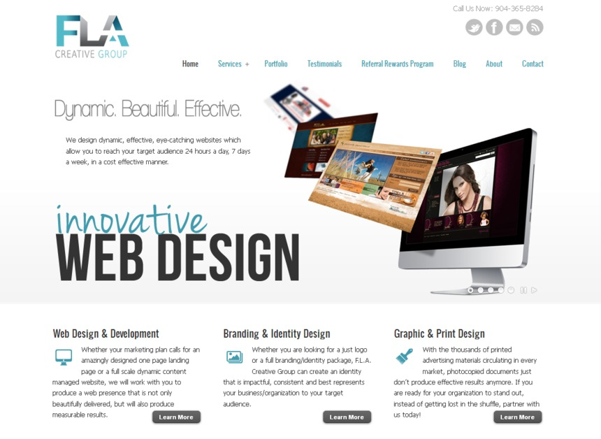 A great web design by F.L.A. Creative Group, Jacksonville, FL: