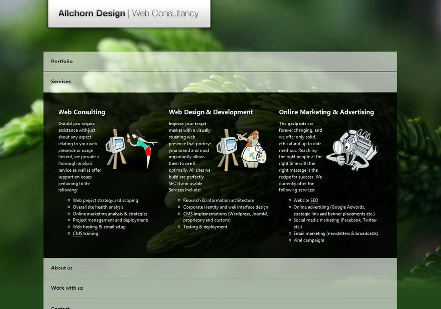 A great web design by Allchorn Design | Web Consultancy, London, United Kingdom: