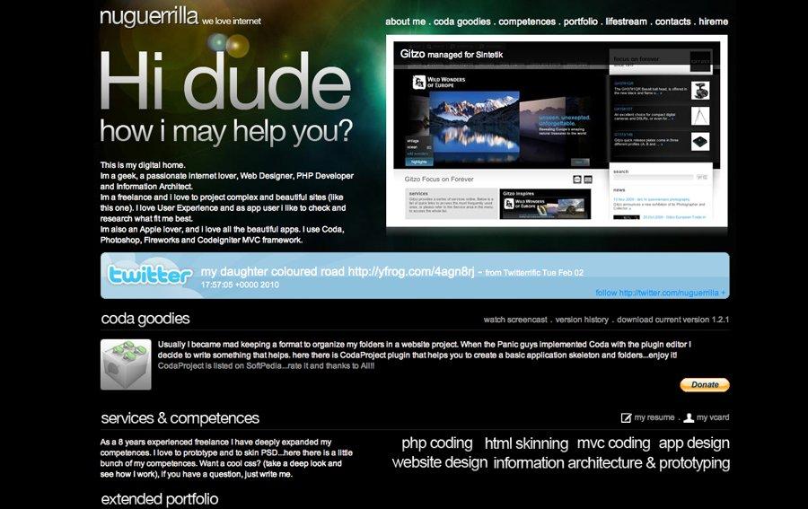 A great web design by Nuguerrilla Design, Verona, Italy: