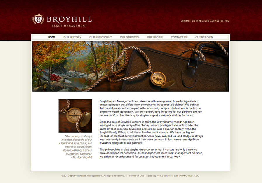 A great web design by m.e.designlab, Hickory, NC: