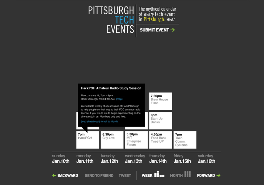 A great web design by derek burgess, Pittsburgh, PA: