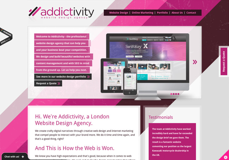 A great web design by Addictivity, London, United Kingdom: