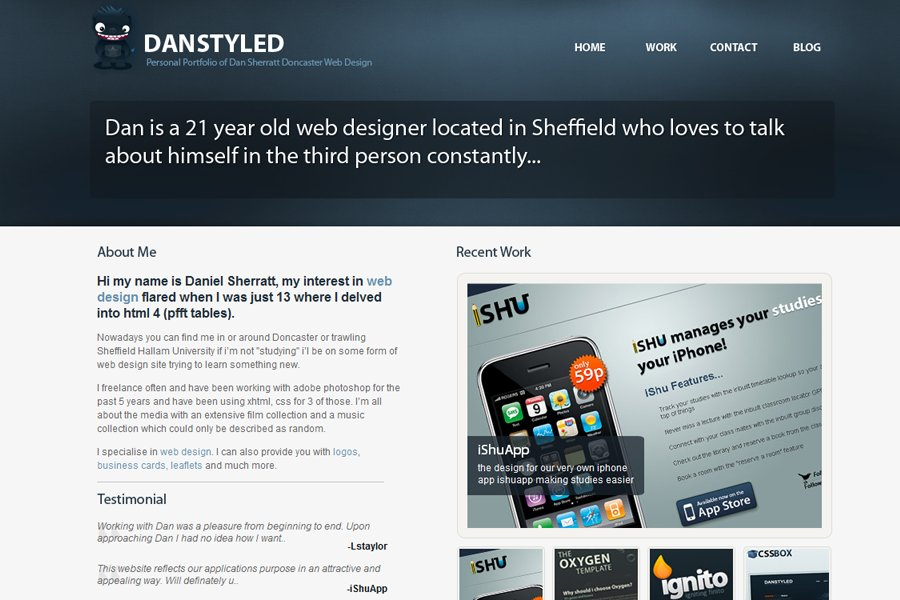A great web design by Danstyled, Sheffield, United Kingdom: