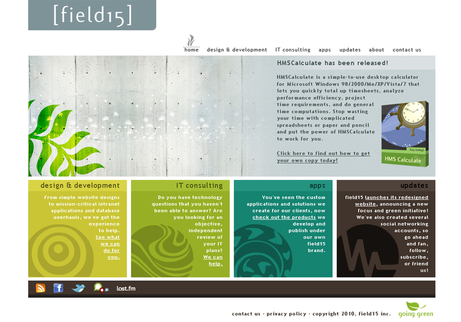 A great web design by field15, New York, NY: