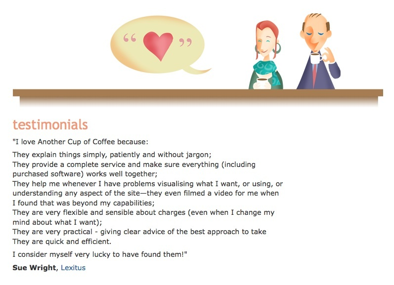 A great web design by Another Cup of Coffee, London, United Kingdom: