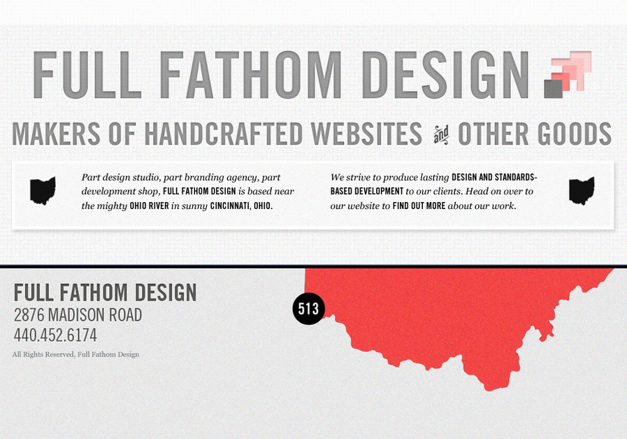 A great web design by Full Fathom Design, Cincinnati, OH: