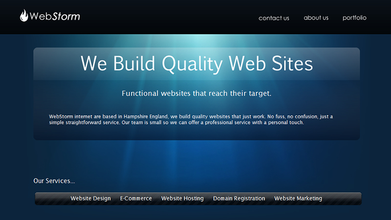 A great web design by WebStorm, Lymington, United Kingdom: