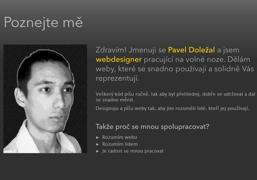 A great web design by Pavel Doležal, Prague, Czech Republic:
