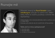 A great web design by Pavel Doležal: