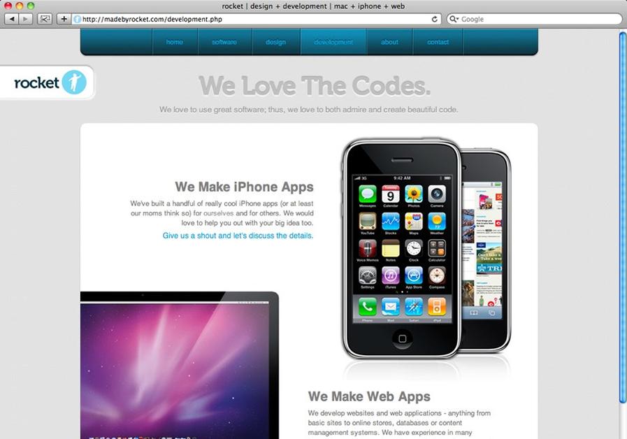 A great web design by rocket, Boise, ID: