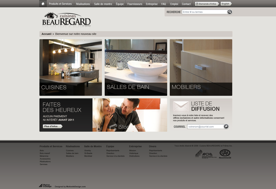 A great web design by Motion In Design, Montreal, Canada: