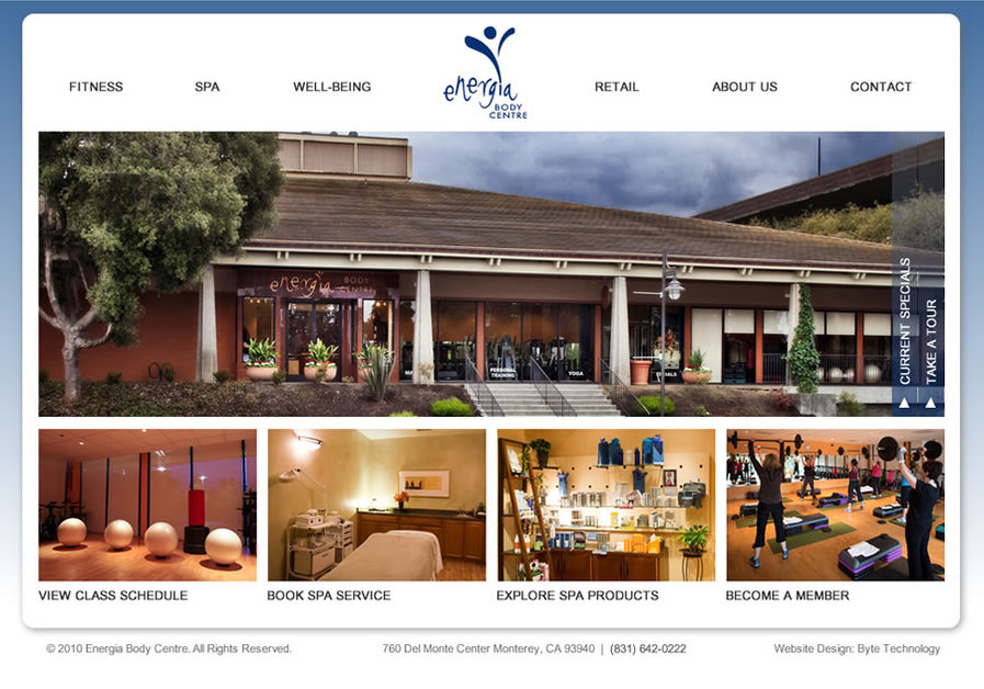 A great web design by Byte Technology, Monterey, CA: