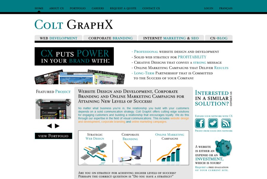 A great web design by Colt GraphX, Montreal, Canada: