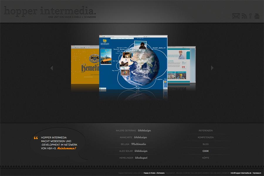 A great web design by hopper intermedia, Bremen, Germany: